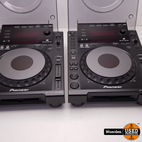 2 x Pioneer CDJ-900 CDJ900 incl Decksavers met Garantie