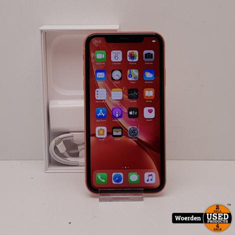 iPhone XR 64GB Oranje Nette Staat met Garantie