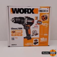 WORX accuschroefboormachine WX373.9 20V NIEUW