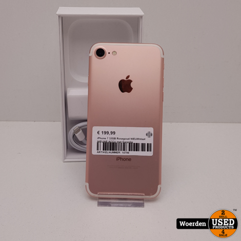 iPhone 7 32GB Rosegoud NIEUWstaat NIEUWE ACCU met Garantie