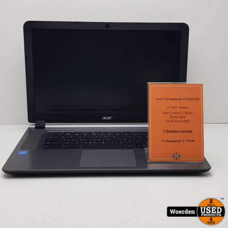 Acer Chromebook 15 CB3-532| Celeron 2.2Ghz|4GB|32GB SSD