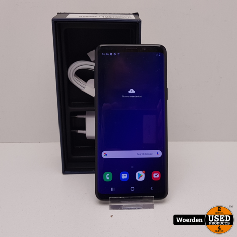 Samsung Galaxy S9 64GB Zwart Nette Staat met Garantie