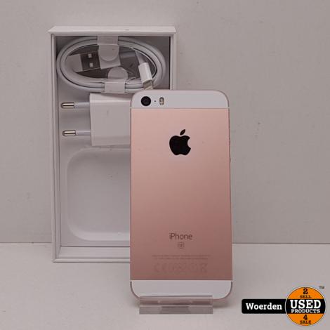 iPhone SE 64GB Roze ZGAN met Garantie