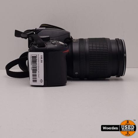 Nikon D3200 +18-105mm lens Zwart in Nette Staat met Garantie