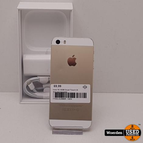 iPhone 5S 16GB Goud Tiouch ID defect met Garantie