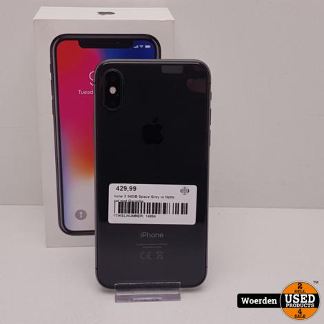 iPhone X 64GB Space Grey in Nette Staat met Garantie