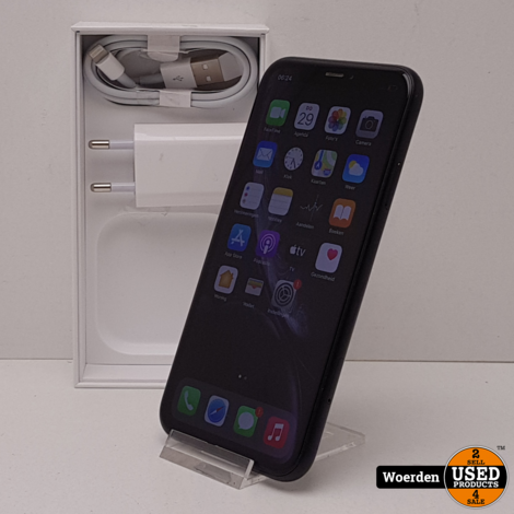 iPhone XR 64GB Zwart in Nette Staat met Garantie