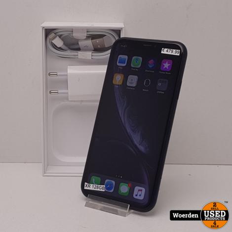 iPhone XR 128GB Zwart NIEUWE ACCU met Garantie