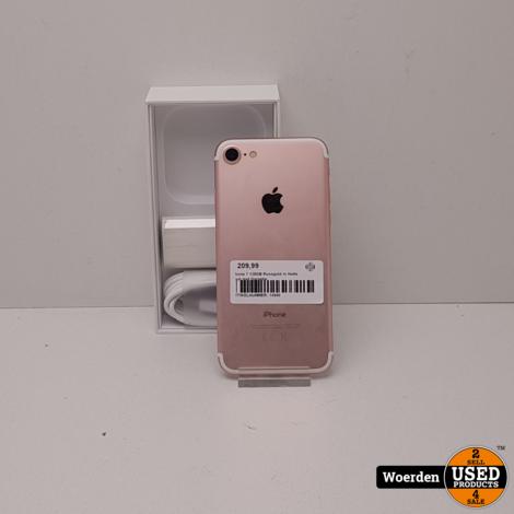 iPhone 7 128GB Rosegold in Nette Staat met Garantie
