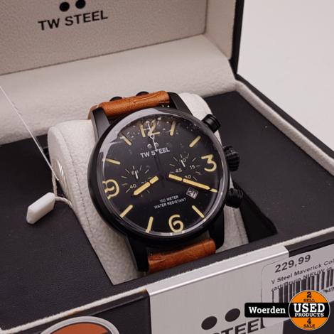 TW Steel Maverick Collection MS34 Zwart/Bruin NIEUW in Doos