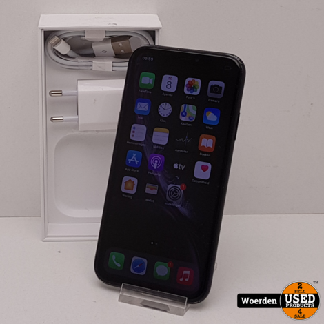 iPhone XR 64GB Zwart incl Oplader met Garantie