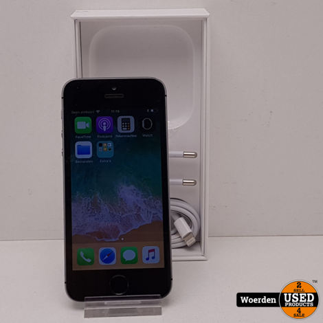 iPhone 5S 16GB Space Gray Met Garantie