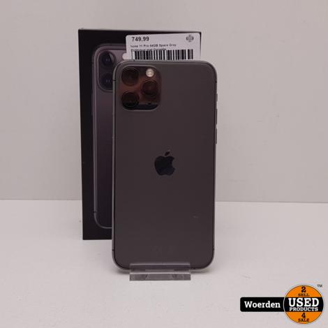 iPhone 11 Pro 64GB Space Gray NIEUWstaat met Garantie