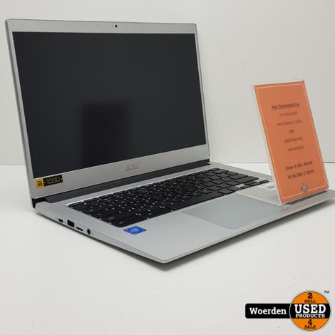 Acer Chromebook 514 Celeron 1.1GHz|4GB|64GB met Garantie