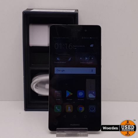 Huawei P8 Lite 2017 Zwart Nette Staat met Garantie