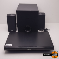 Philips HTB3280 Blu-Ray Speler + 2 Boxen en Sub met Garantie