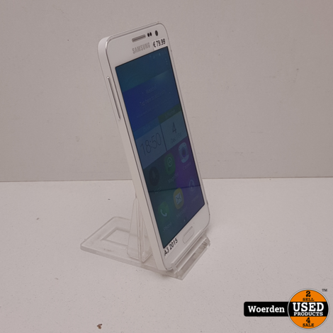 Samsung Galaxy A3 2015 Wit Nette Staat met Garantie