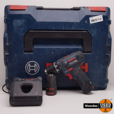 Bosch GSR-12v-15 boormachine in Koffer met Garantie
