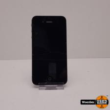 iPhone 4S 32GB Zwart Defecte achterkant met Oplader