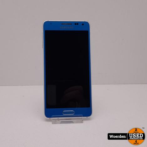 Samsung Galaxy Alpha Blauw in Nette Staat met Garantie