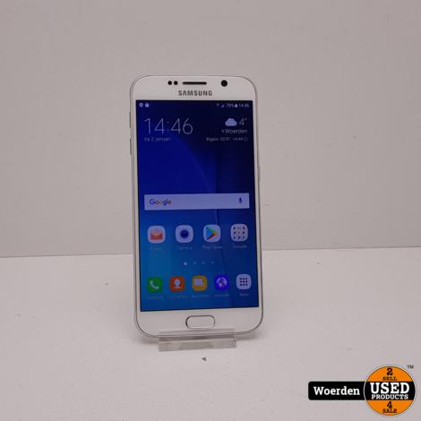 Samsung Galaxy S6 32Gb Wit in Nette Staat met Garantie