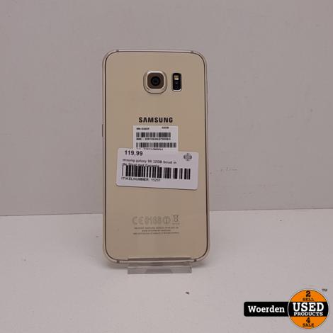 Samsung galaxy S6 32GB Goud in Nette Staat met Garantie