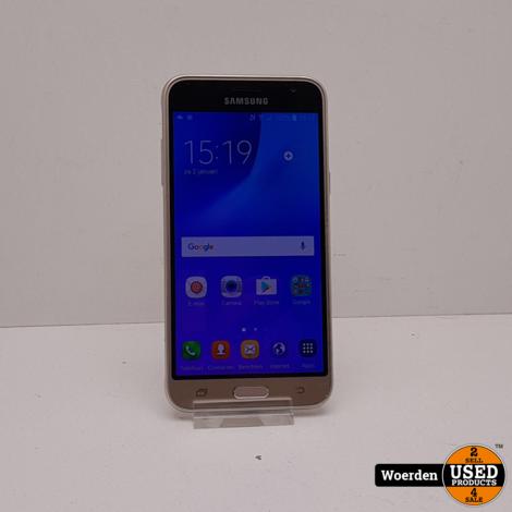 Samsung Galaxy J3 2016 Goud in Nette Staat met Garantie
