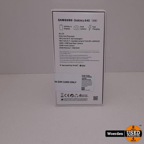 Samsung Galaxy A40 NIEUW in Seal met Garantie