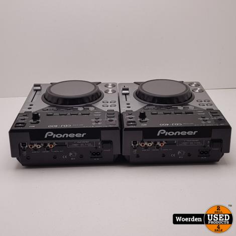 2x Pioneer CDJ-400 CDJ400 Spelers met Garantie