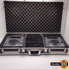 2 x Pioneer CDJ-350 + DJM-350 in Flightcase met Garantie