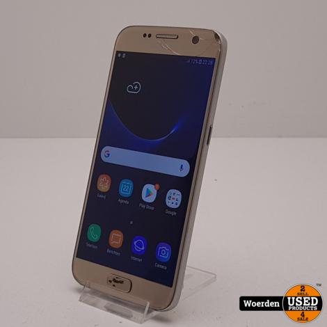 Samsung Galaxy S7 32GB Goud scheur in rechterhoek