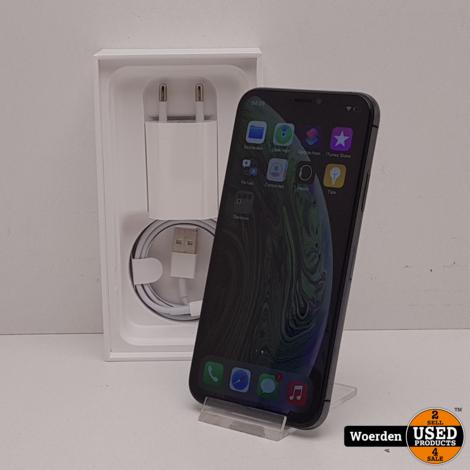 iPhone XS 64GB Zwart in Nette Staat met Garantie