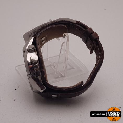 Fossil Herenhorloge CH2564 Bruin Bandje in slechte staat met Garantie