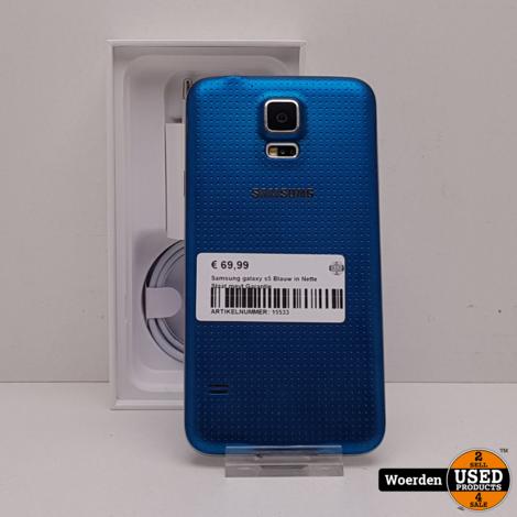 Samsung Galaxy S5 Blauw in Nette Staat met Garantie