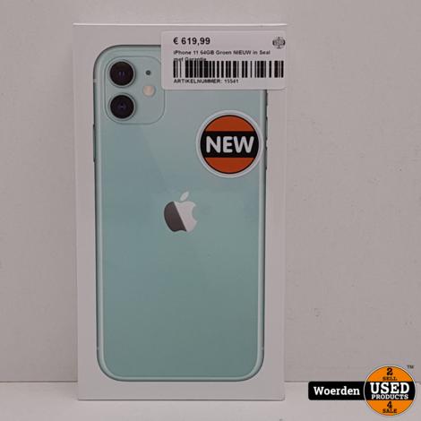 iPhone 11 64GB Groen NIEUW in Seal met Garantie