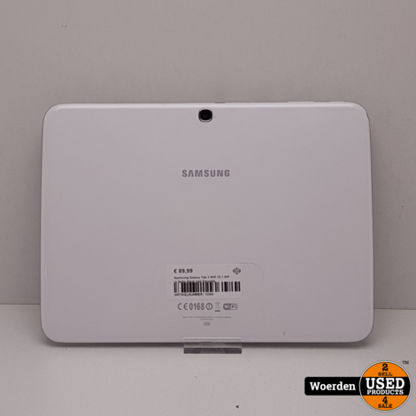 Samsung Galaxy Tab 3 Wifi 10.1 Wit in Nette Staat met Garantie
