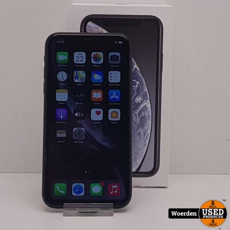 iPhone XR 64GB Zwart Accu 93% met Garantie