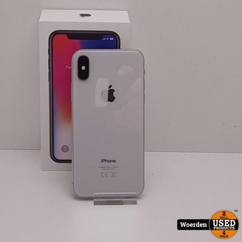 iPhone X 64GB Wit Nette Staat met Garantie