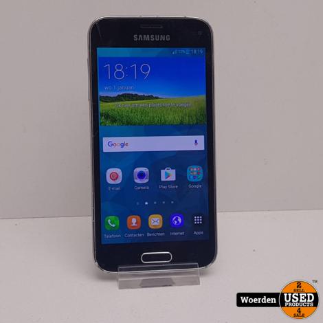 Samsung Galaxy S5 Mini Zwart Barst in scherm Met Garantie