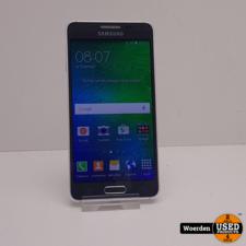 Samsung Galaxy Alpha Zwart in Nette Staat met Garantie
