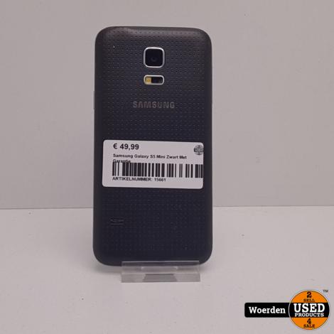 Samsung Galaxy S5 Mini Zwart Met Garantie