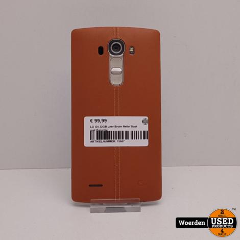 LG G4 32GB Leer Bruin Nette Staat met Garantie