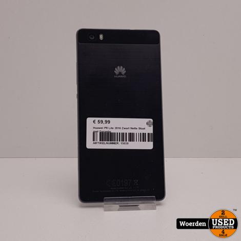 Huawei P8 Lite 2016 Zwart Nette Staat met Garantie