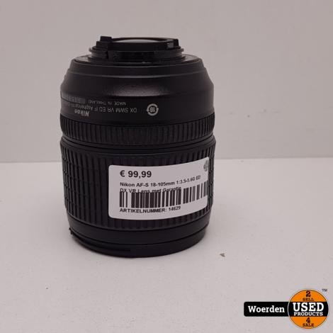 Nikon AF-S 18-105mm 1:3.5-5.6G ED DX VR Lens met Garantie