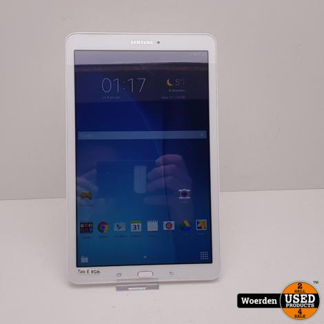 Samsung Galaxy Tab E Wit WiFi NIEUWE ACCU met Garantie