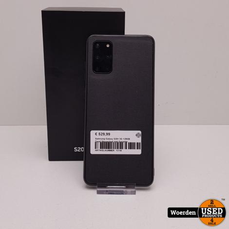 Samsung Galaxy S20+ 5G 128GB Zwart Nette Staat met Garantie