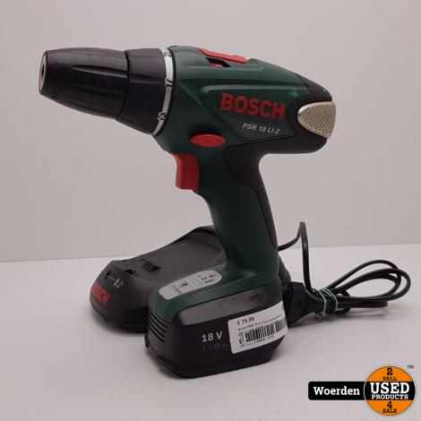 Bosch PSR 18 LI-2 Accuboor 18V + Lader ZGAN met Garantie