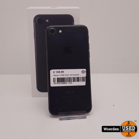 iPhone 7 32GB Zwart  met Garantie