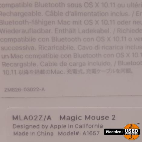 Apple Magic Mouse 2 NIEUWstaat 2 Week oud met Garantie