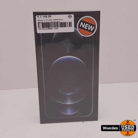 iPhone 12 Pro Max 256GB Silver NIEUW in Seal met Garantie
